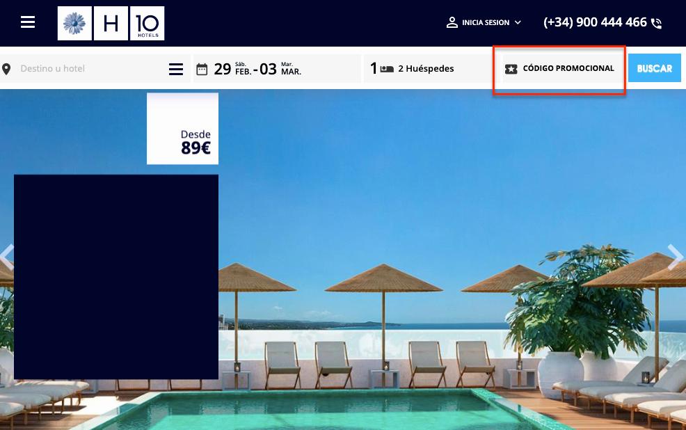 Cómo usar el código promocional de H10 Hoteles