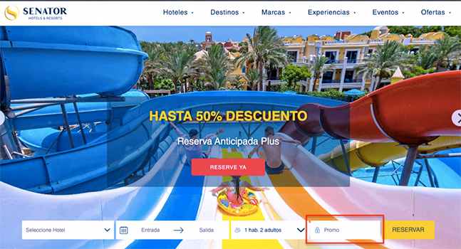 Código Promocional Playa Senator Hotels