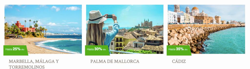 Destinos con Meliá Hoteles - Palma de Mallorca y Cádiz