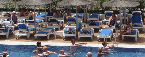 Aquagym en el hotel Vik San Antonio